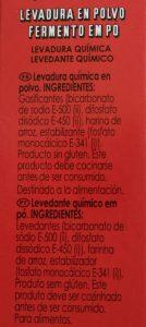 Bicarbonato para repostería