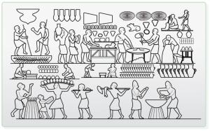 bajorrelieves egipcios y pan